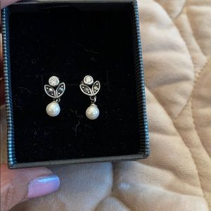 Gorgeous sterling silver and marcasite earrings